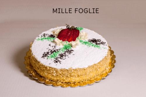 MILLE FOGLIE - Strati di pasta sfoglia con crema pasticcera e gocce di cioccolato